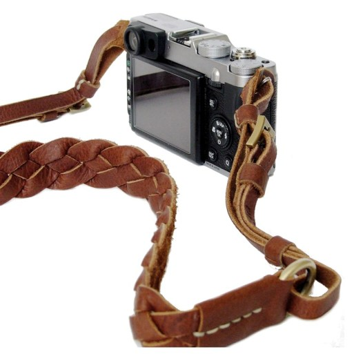 Camera strap-leather-weave-1