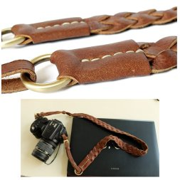 Camera strap-leather-weave-5
