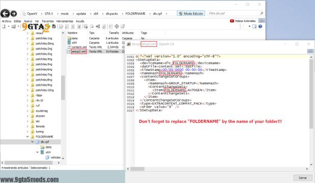Replace Base Folder 8