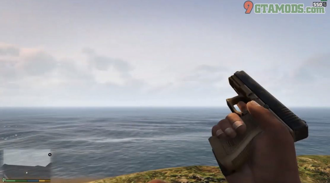 Glock 17 green [brown handgrip retexture] V1.0 - 4