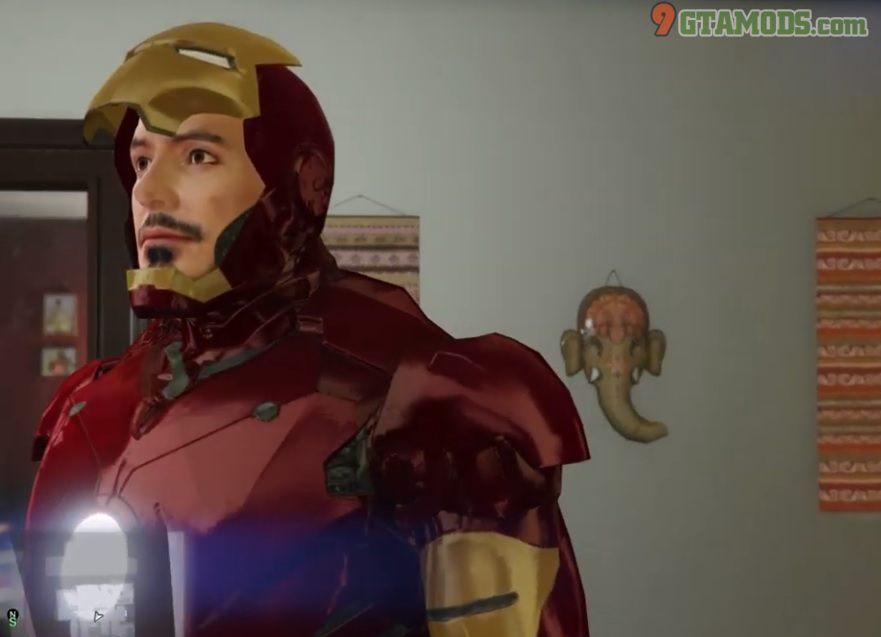 Re-Texture face Iron Man V1 - 2