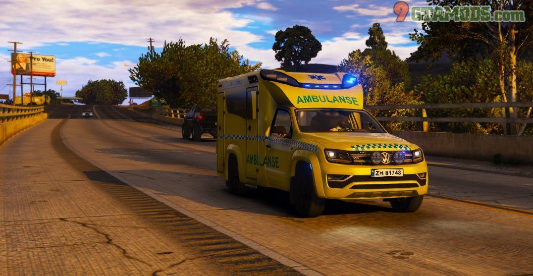 2017 Volkswagen Amarok Tamlans Ambulance V1 - 2