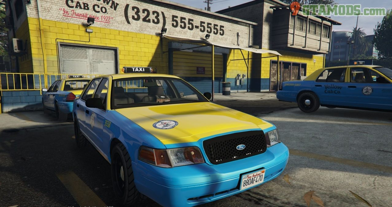 Los Angeles Ford Crown Victoria Taxi [4K] V2.0 - 1