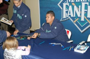 King Felix Hernandez at Mariners Fan Fest
