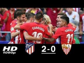 VIDEO : Atletico Madrid vs Sevilla 2-0 All Goals & Highlights (23/09/2017)