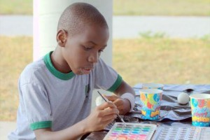 Black kid painting edited