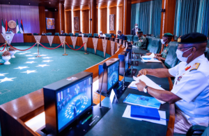 President Buhari summons security chiefs over security challenges in some parts of the country(Photos)