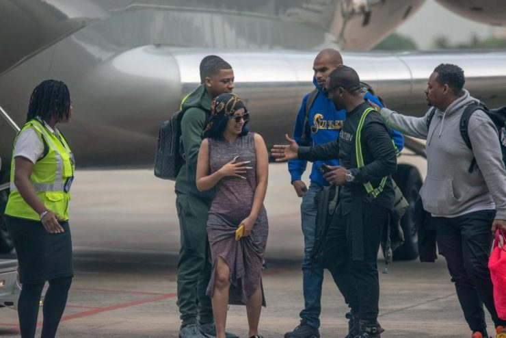 Cardi B Arrives Lagos In $20,000,000 Private Jet 10
