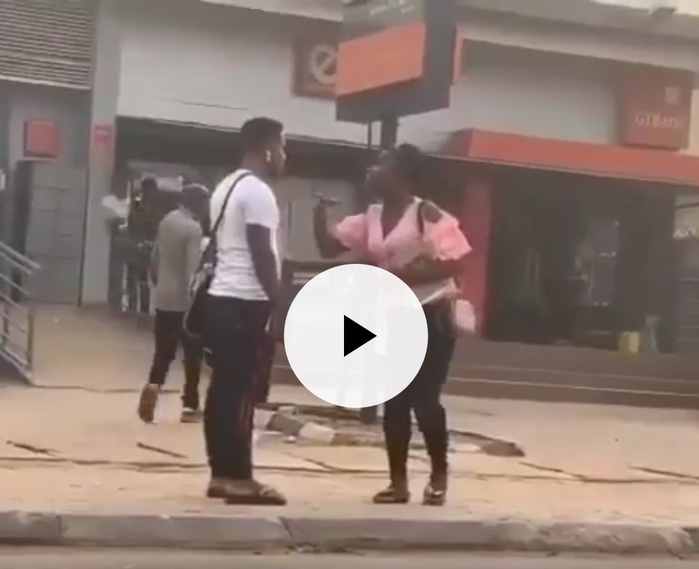 Lady Confronts Guy On The Road For Telling His Friends They Had Sex