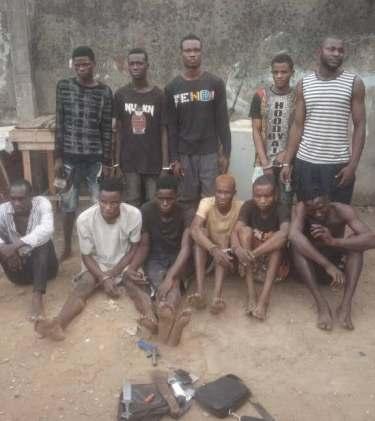 Police Arrests 11 Suspected Gang Members In Lagos