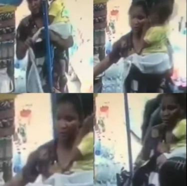 The Moment A Nursing Mum Pretending To Be In Search Of A Job Was Caught On Camera Stealing A Bag In A Shop