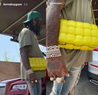 Photo Of Burna Boy Spotted With Female Bottega Veneta Bag