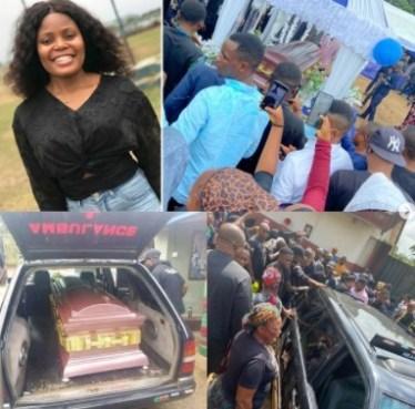 Tears As Murdered Job Seeker, Iniubong Umoren Is Buried In Akwa Ibom (Photos)