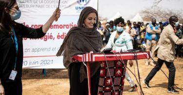Hollywood Actress Angelina Jolie Pays Visit To Burkina Faso Refugee Camp