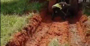 Airplane Gets Stuck In Mud After Skidding Off Runway In Murtala Muhammed Airport