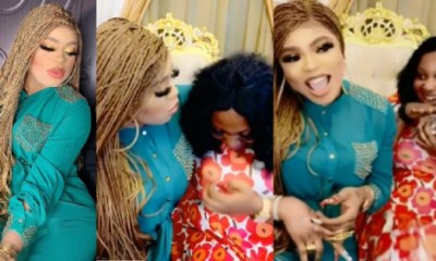 Bobrisky finally meets fan