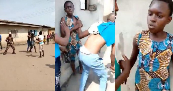 16 yr old Mother of 4 fights husband