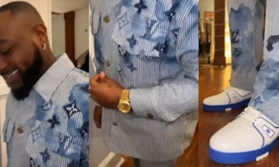 Davido Steps out in Louis Vuitton Designer Outfit