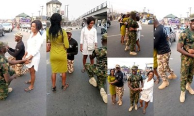 Nigerian soldiers propose to their girlfriends