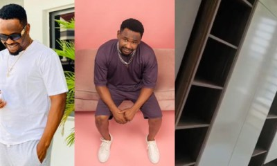 Zubby Michael shows off his Lagos mansion closet