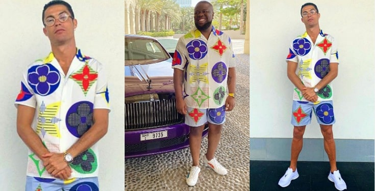 """""""Them don sell Hushpuppi cloth give you now now"""" - Nigerians react as Ronaldo wears same outfit with Hushpuppi"""