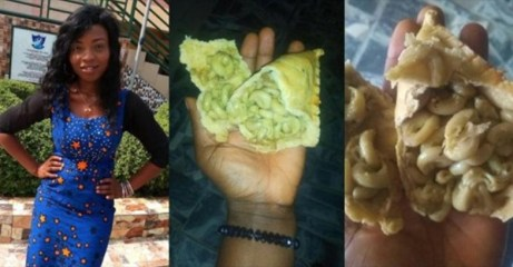 Lady orders for meat pie, finds macaroni inside (Photos)
