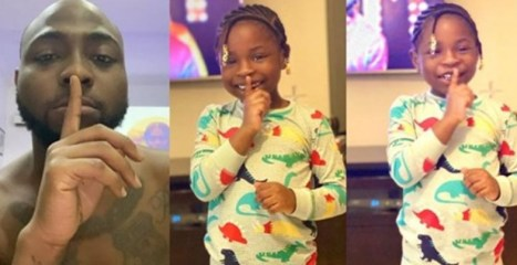 """Davido's first daughter, Imade promotes her dad's latest song, """"Fem"""" (Photos)"""