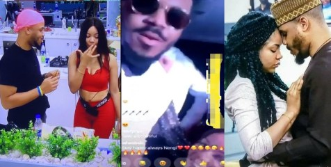 See The priceless Moment Ozo and Nengi Had A Live Video Session As he Blows Her Kisses (Video)
