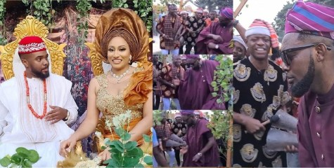 Watch moment AY killed the popular Igbo Ogene cultural dance at Williams Uchemba's traditional wedding (Video)
