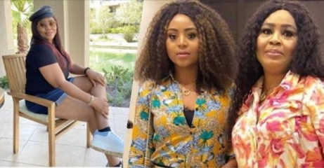 """""""Your mates are happily married"""" – Regina Daniels mother dragged for sharing photo of herself in bum short"""