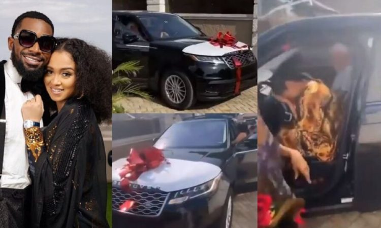 D'banj gifts his wife, Lineo a Range Rover Velar