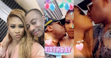 Actress Nkechi Blessing and her new man in PDA session at her birthday party (video)