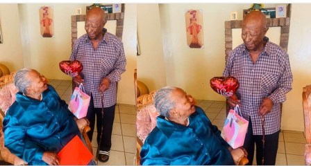 """""""Still romantic at 93"""" – Lady reveals how her Grandfather got a present for Grandmother on Valentine's day."""