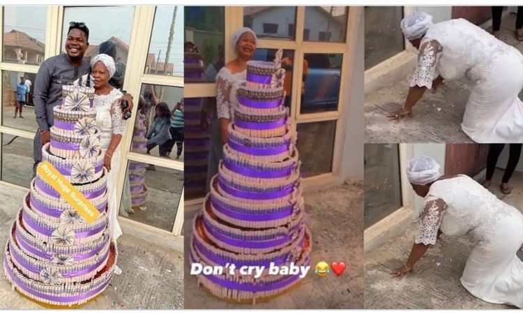 Mr Macaroni's mother breaks down in tears as he celebrates her birthday in style (Video)