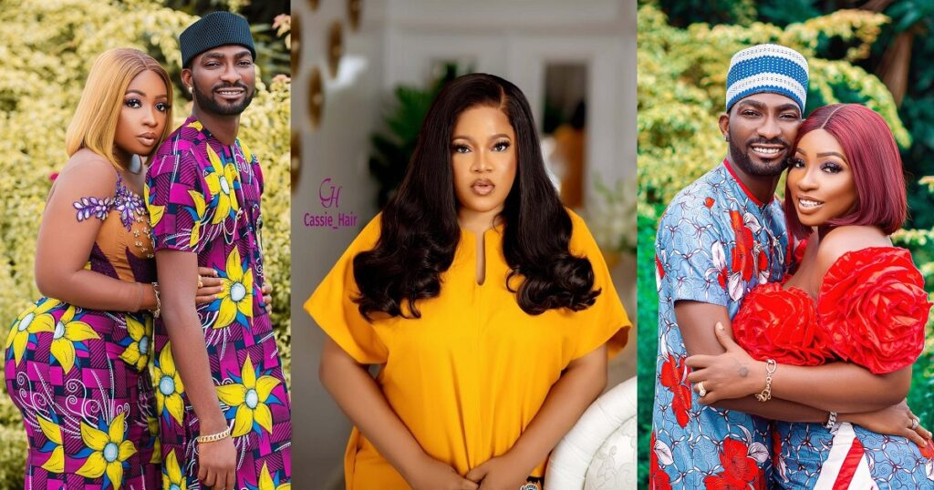"""""""You are next in-line"""" – Toyin Abraham prays for Anita Joseph after congratulating Uche Ogbodo for the birth of her child."""