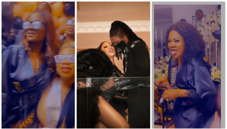 Toyin Abraham shows off dance moves during Toyin Lawani's bridal shower (Video)