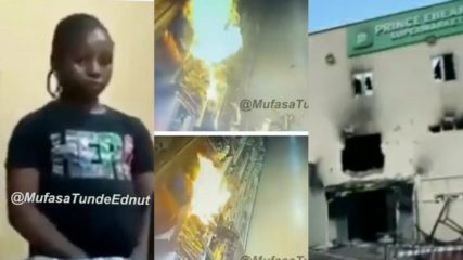 """I hope she learns from this, N3 billion naira supermarket just gone"""" Tunde Ednut reacts (video)"""