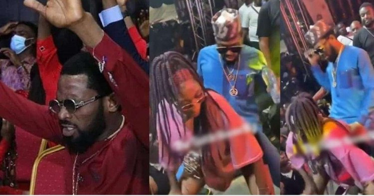 We Thought You Have Given Your Life To Christ - Netizens Blast Dbanj For Rocking A lady While Performing During Obi Cubana's mums burial last night (video)
