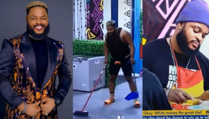 #BBNaija: WhiteMoney Uses Cooking And Cleaning The Kitchen As A Strategy - #BBNaija2021 Housemate Pere Tells Maria (video)