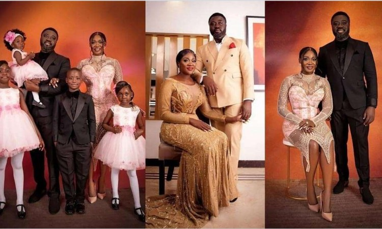 Mercy Johnson Okojie and her husband celebrate 10th wedding anniversary with beautiful family photos