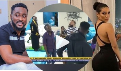 #BBNaija: Checkout #BBNaija2021 Housemates Reactions As Pere Screams In Front Of Them That He Doesn't Have Anything With Maria (video)