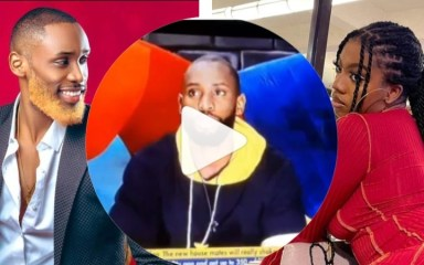 """#BBNaija: """"She has An Amazing With Vibes That Could Lure Me, She Distracts Me"""" - #BBNaija2021 Housemate Emmanuel Explains Why He Nominated Angel For Eviction (video)"""
