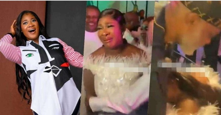 Watch As Mercy Johnson burst into tears on seeing RMD, others at her surprise birthday party (Video)