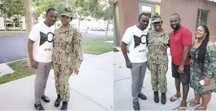 Pasuma visits daughter who is a US Naval officer at her base in California (video)
