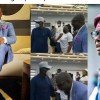 """""""Bad Guyy"""" – Gov. Sanwo-Olu reacts after seeing Jim Iyke at an event in Lagos (Video)"""