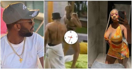 #BBNaija: Watch The Video Of Cross Inserting His Fingers In Angel's Thighs Sparks Outrage (video)