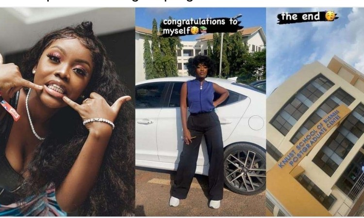 """""""Congratulations to myself"""" – Singer, Gyakie excited as she completes her degree programme"""