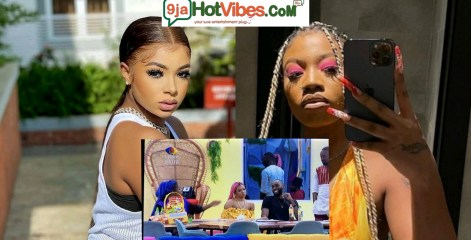 #BBNaija: Liquorose And Angel Exchange Harsh Words To Each other Over Angel So called Friendship To Queen (Video)