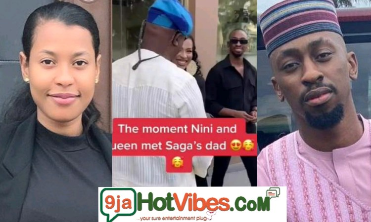 #BBNaija: Watch The Beautiful Moment Saga's Dad Welcomes Nini With Open Arms (video)
