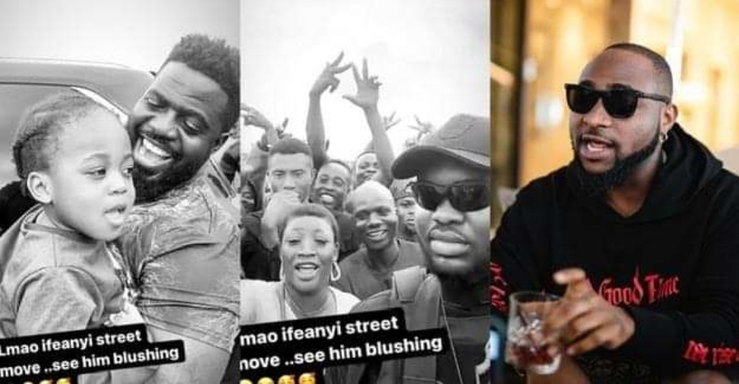 Watch Davido's son's reaction after Davido allowed him meet his massive fans for the first time (Video)